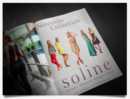 Soline - Création pleine page pub magazine