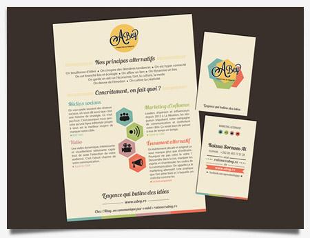 Abey - Création carte de visite et plaquette