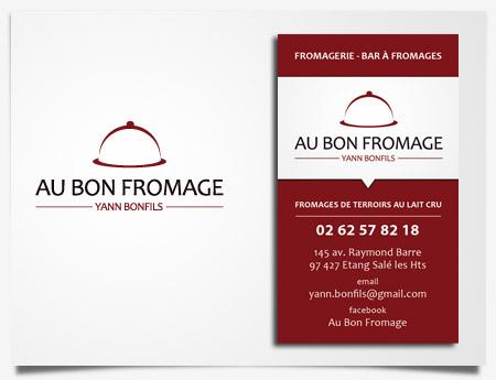 Au Bon Fromage - Création de logo et carte de visite