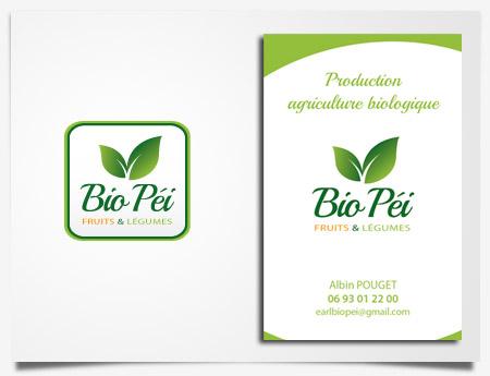 Bio Péi - Création de logo et carte de visite
