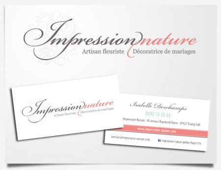 Impression Nature - Création de logo et carte de visite