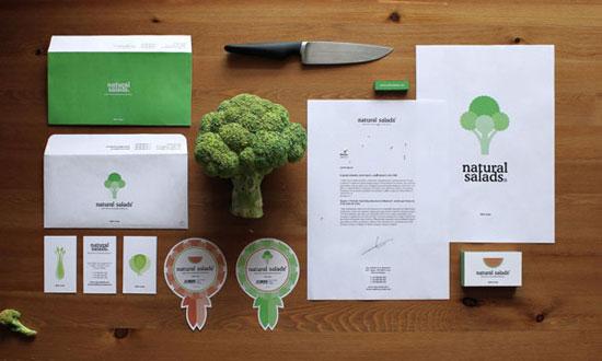 Natural Salads - Chartes graphiques d'entreprises originales