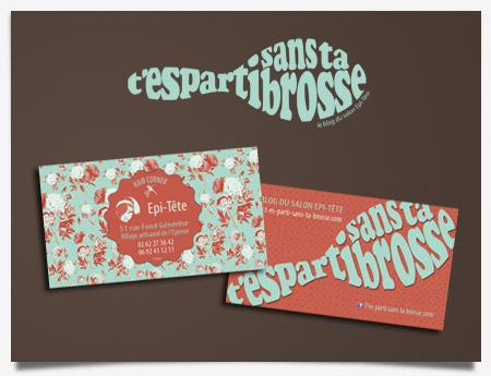 T'es Parti Sans Ta Brosse - Création logo et carte de visite
